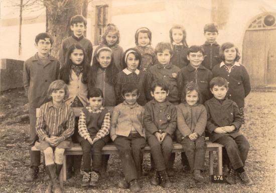 Ecole de Lacajunte en 1971