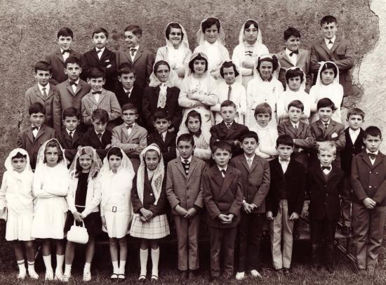 Confirmation à Arboucave en 1970