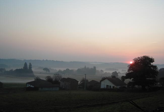 Lever de soleil depuis Millet
